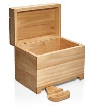 Prosumer's Choice Wooden Recipe Box w/Fold Out Tablet and Smartphone Stand