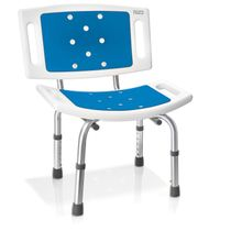 Prosumer's Choice Shower Bathtub Transfer Chair with Padded Seat Bench and Removable Backrest