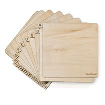 """TunePhonik Full Alphabet Laser Etched Wooden Record Dividers to Organize 12"""" Vinyl LPs Set of 26 Horizontal"""