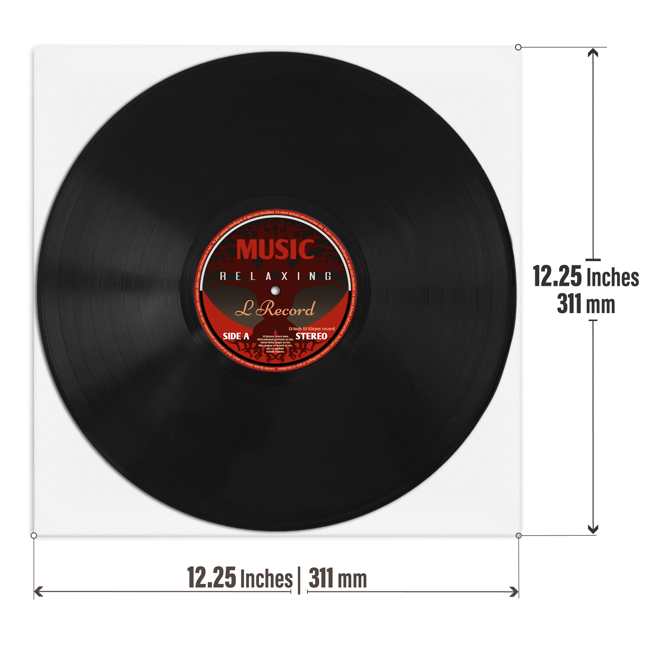 Printable Vinyl Record Jackets Uncoated White Prosumer S