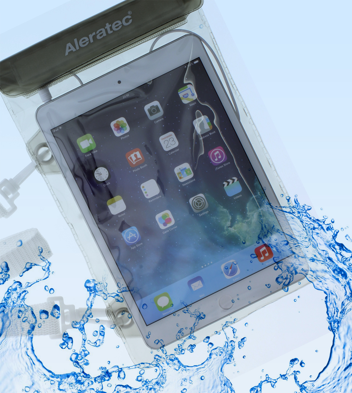 88d884fd0770 Aleratec Water-resistant Dry Bag Pouch w  Speakers for iPad Mini and 7