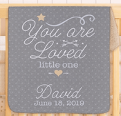 Snuggly Sherpa Loved Little One Personalized Blanket