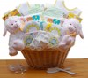 Deluxe Little Lamb Twins Basket