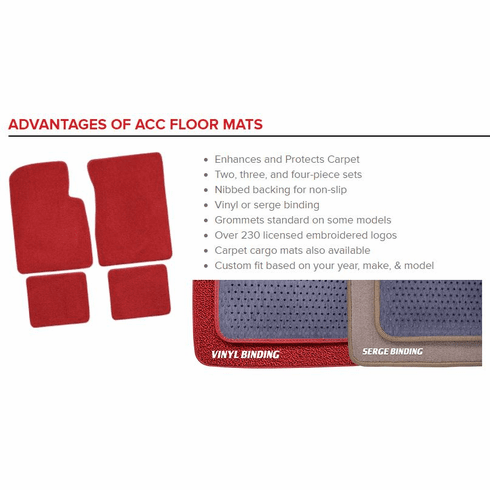 2 Piece Front Loop Style Carpet Floor Mats by ACC