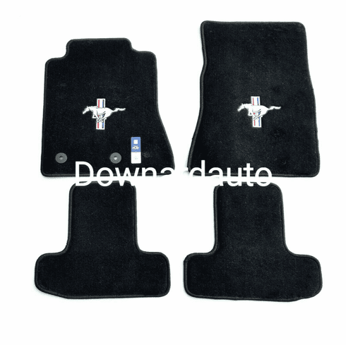 Mustang Black Carpet Floor Mats with Pony/Tri-Bar Logo Pick 2005-2021