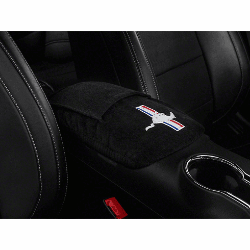 Seat Armour Console Cover w/ Mustang Logo - Fits 2015-2018