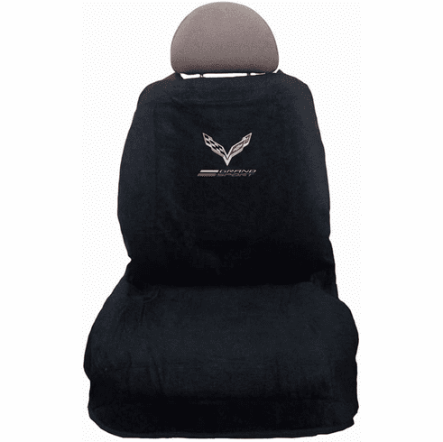 Seat Armour Protector Cover/Towel with C7 Corvette Grand Sport Logo