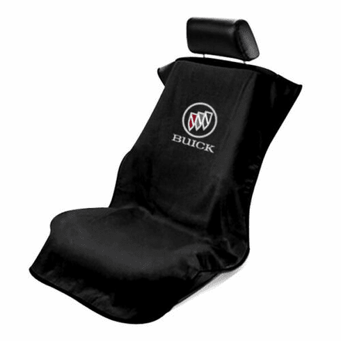 Seat Armour Seat Protector Cover/Towel w/ Buick Logo - Black