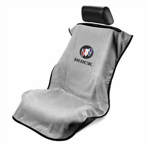 Seat Armour Seat Protector Cover/Towel w/ Buick Logo - Gray