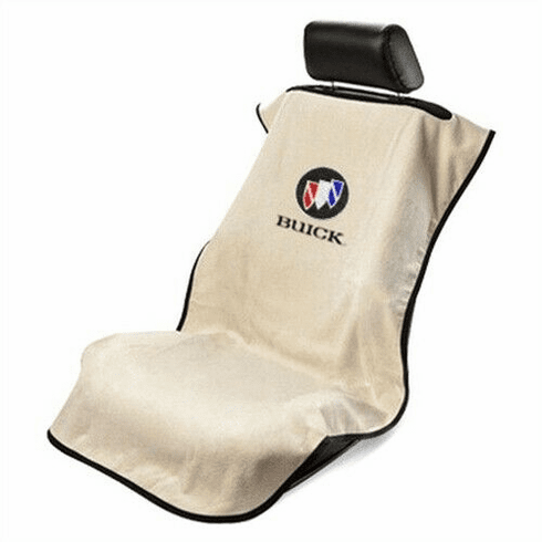 Seat Armour Seat Protector Cover/Towel w/ Buick Logo - Tan