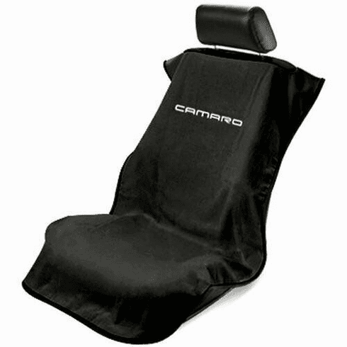 Seat Armour Seat Protector Cover/Towel w/ Camaro Logo - Black