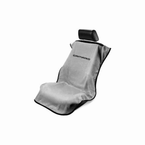 Seat Armour Seat Protector Cover/Towel w/ Camaro Logo - Gray