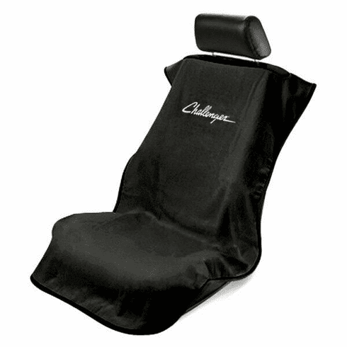 Seat Armour Seat Protector Cover/Towel w/ Challenger Logo - Black