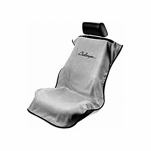 Seat Armour Seat Protector Cover/Towel w/ Challenger Logo - Gray