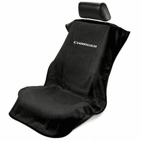 Seat Armour Seat Protector Cover/Towel w/ Charger Logo - Black