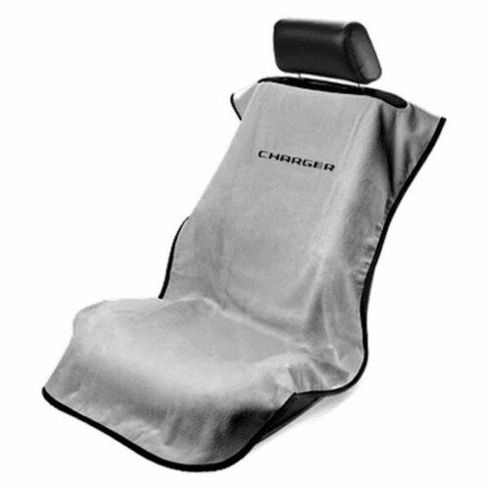 Seat Armour Seat Protector Cover/Towel w/ Charger Logo - Gray