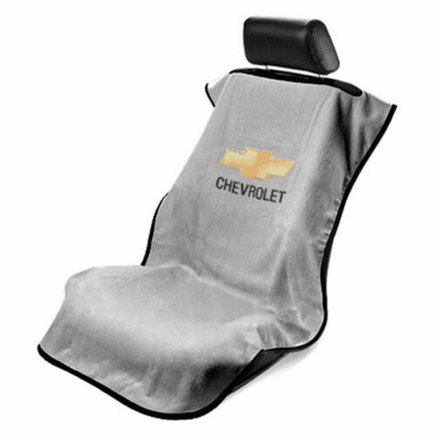 Seat Armour Seat Protector Cover/Towel w/ Chevy Bowtie Logo - Gray