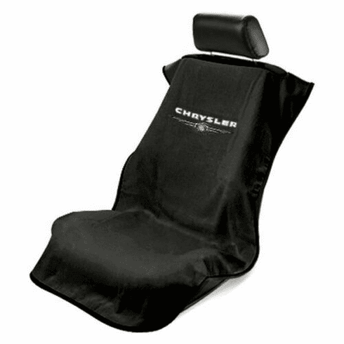 Seat Armour Seat Protector Cover/Towel w/ Chrysler Logo - Black