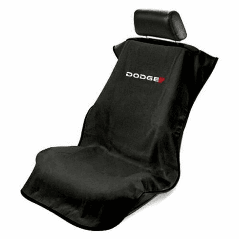 Seat Armour Seat Protector Cover/Towel w/ Dodge Logo - Black