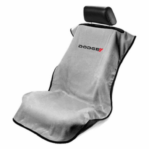 Seat Armour Seat Protector Cover/Towel w/ Dodge Logo - Gray