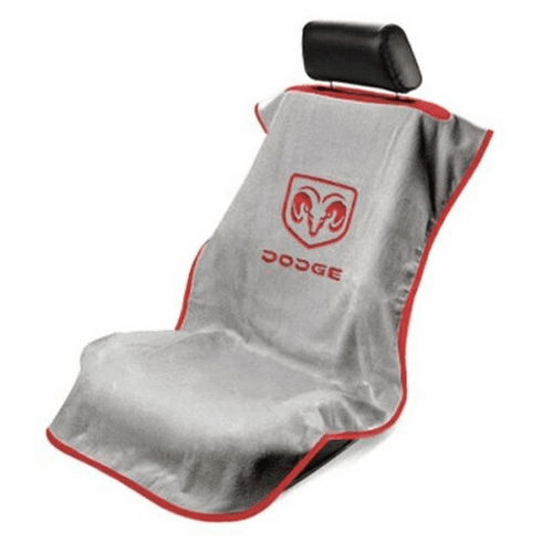 Seat Armour Seat Protector Cover/Towel w/ Dodge Ram Logo - Red