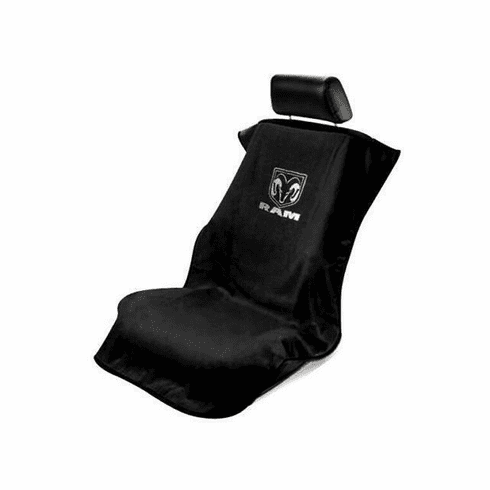 Seat Armour Seat Protector Cover/Towel w/ Dodge Ram Logo - Silver