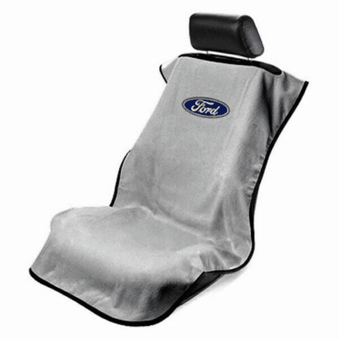 Seat Armour Seat Protector Cover/Towel w/ Ford Logo - Gray