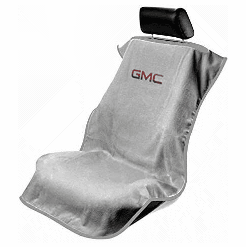 Seat Armour Seat Protector Cover/Towel w/ GMC Logo - Gray