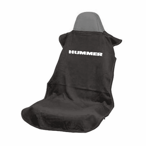 Seat Armour Seat Protector Cover/Towel w/ Hummer Logo - Black