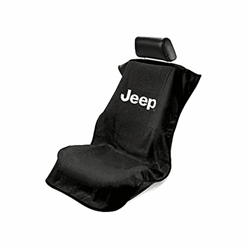 Seat Armour Seat Protector Cover/Towel w/ Jeep Letters Logo - Black