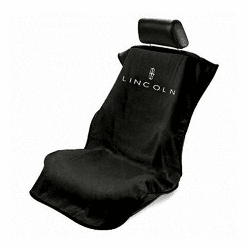 Seat Armour Seat Protector Cover/Towel w/ Lincoln Logo - Black