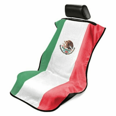 Seat Armour Seat Protector Cover/Towel w/ Mexican Flag Logo