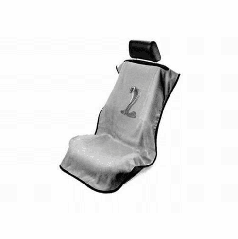 Seat Armour Seat Protector Cover/Towel w/ Mustang Cobra Logo - Gray