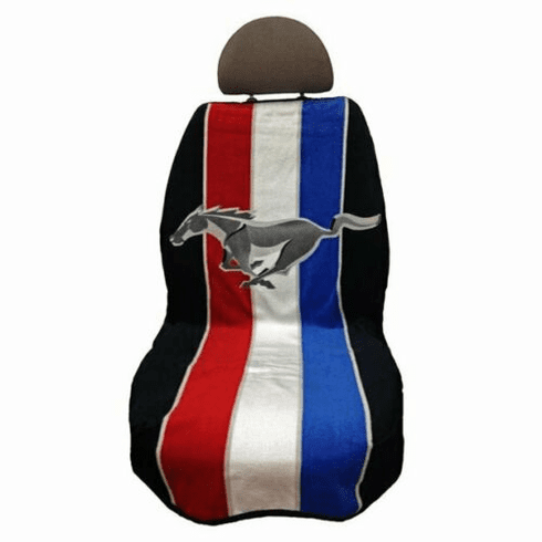 Seat Armour Seat Protector Cover/Towel w/ Mustang Pony Tribar Logo