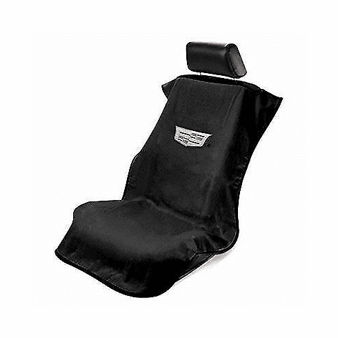 Seat Armour Seat Protector Cover/Towel w/ New Cadillac Logo - Black