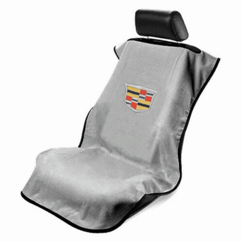 Seat Armour Seat Protector Cover/Towel w/ New Cadillac Logo - Gray