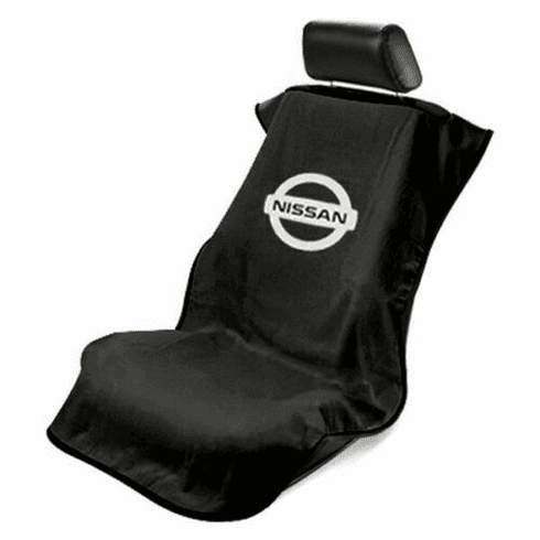Seat Armour Seat Protector Cover/Towel w/ Nissan Logo - Black