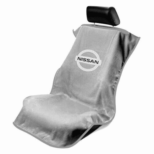 Seat Armour Seat Protector Cover/Towel w/ Nissan Logo - Gray