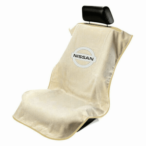 Seat Armour Seat Protector Cover/Towel w/ Nissan Logo - Tan