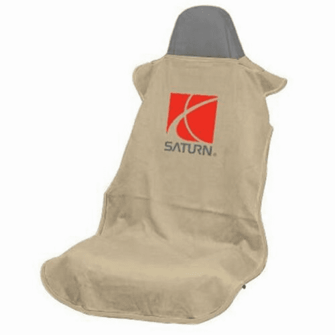 Seat Armour Seat Protector Cover/Towel w/ Saturn Logo - Tan