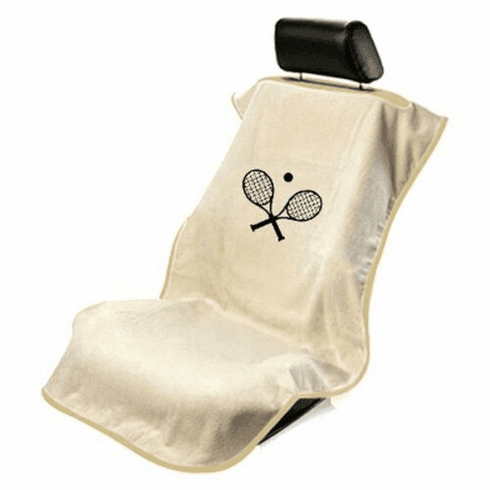 Seat Armour Seat Protector Cover/Towel w/ Tennis Racquet Logo - Tan