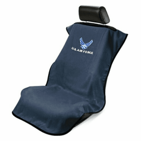 Seat Armour Seat Protector Cover/Towel w/ US Air Force Logo - Blue