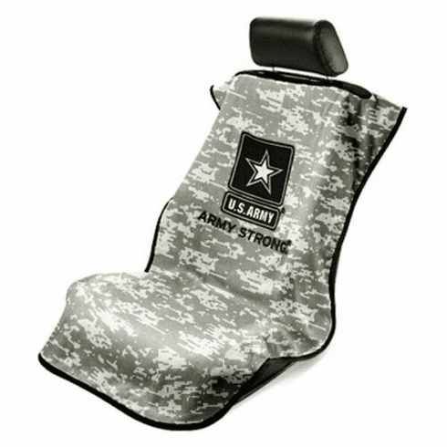 Seat Armour Seat Protector Cover/Towel w/ US Army Camo Logo