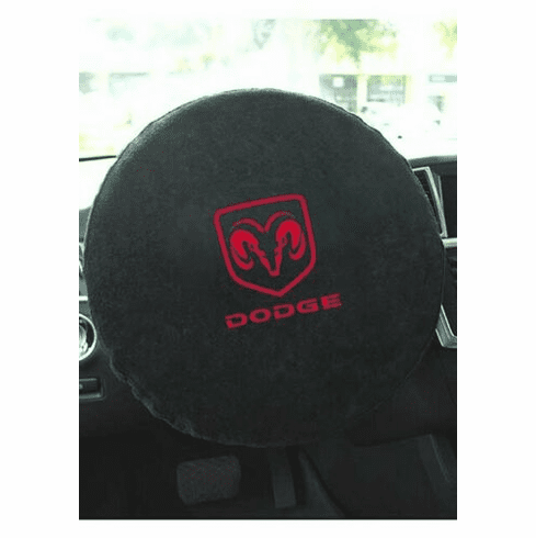 Seat Armour Steering Wheel Cover w/ Dodge Ram Logo - Black