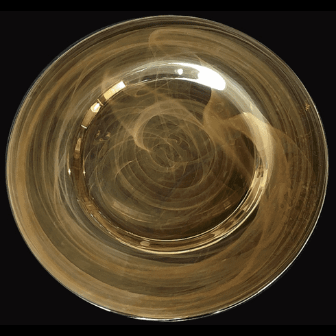 """Alabaster 13"""" Smoke Luster Charger Plate"""