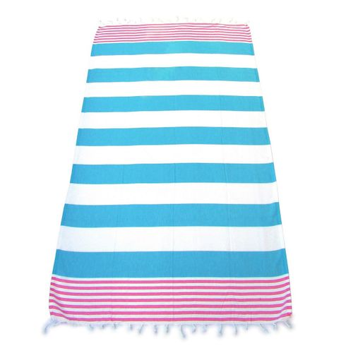 ANCHOR 100% Turkish Cotton Pestemal Bath & Beach Towel Light Blue