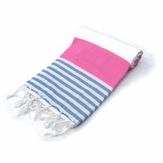 ANCHOR 100% Turkish Cotton Pestemal Bath & Beach Towel Pink