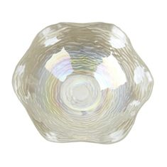 "Clam 12"" White Bowl"