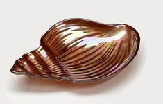 "Conch Shell 11.5"" Copper Luster Plate"