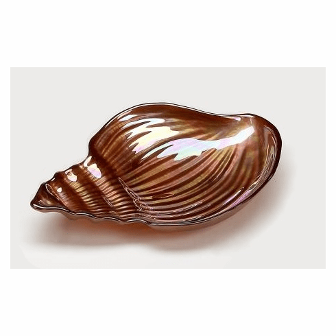 """Conch Shell 11.5"""" Copper Luster Plate"""
